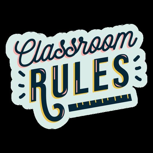 Insignia de reglas de aula Transparent PNG