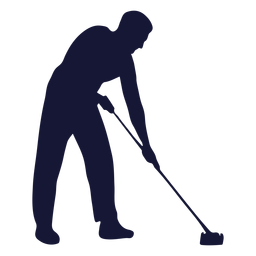 Cleaner mop silhouette