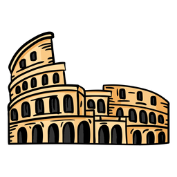 Arena do anfiteatro do Coliseu plana