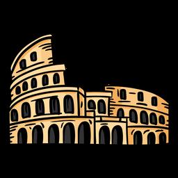 Coliseum amphitheatre arena flat