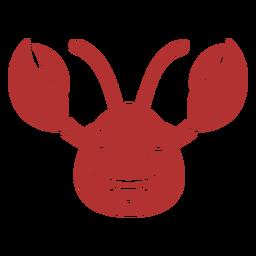 Bozal de cabeza feliz de cangrejo plano