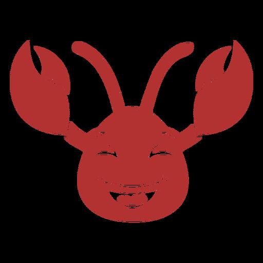 Cangrejo cabeza feliz hocico plano Transparent PNG