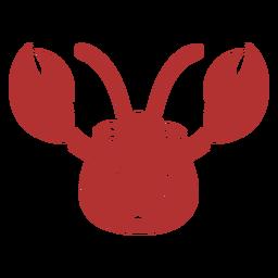 Cangrejo cabeza alegre hocico plano