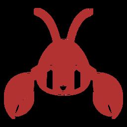 Cangrejo cabeza triste hocico plano