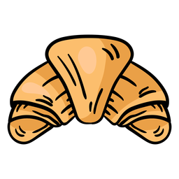 Croissant bagel sketch
