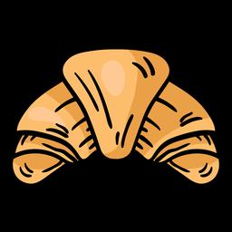 Croissant Bagel Skizze