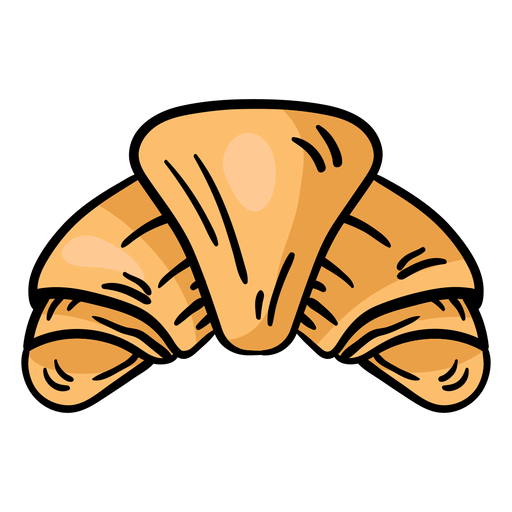 Esboço de croissant bagel Transparent PNG