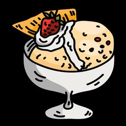 Taça taça sorvete de vidro plana