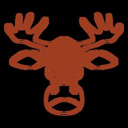 Cabeza de ciervo enojado hocico plano