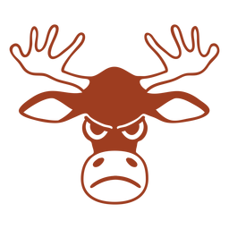 Deer angry head muzzle flat