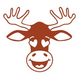 Deer enamoured head muzzle flat