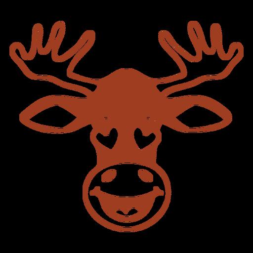Deer enamoured head muzzle flat Transparent PNG