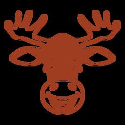 Deer happy head muzzle flat