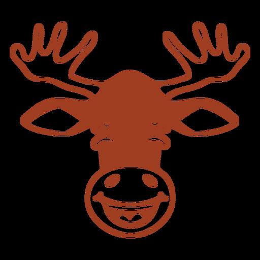 Deer happy head muzzle flat Transparent PNG