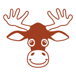 Deer joyful head muzzle flat