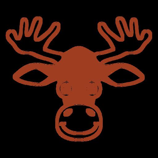 Deer joyful head muzzle flat Transparent PNG