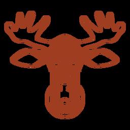 Deer sad head muzzle flat