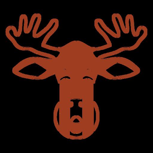 Deer sad head muzzle flat Transparent PNG