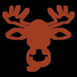 Cabeza de ciervo guiño hocico plano