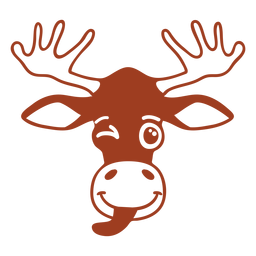 Deer wink head muzzle flat