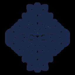 Ilustración de patrón de flor de ornamento de diseño