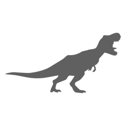 Silhueta da cauda do tiranossauro com mandíbulas de dinossauro