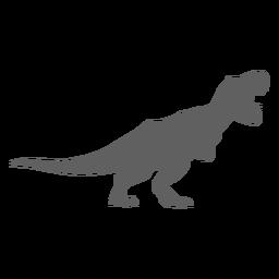 Silhueta de cauda de tiranossauro de mandíbulas de dinossauro