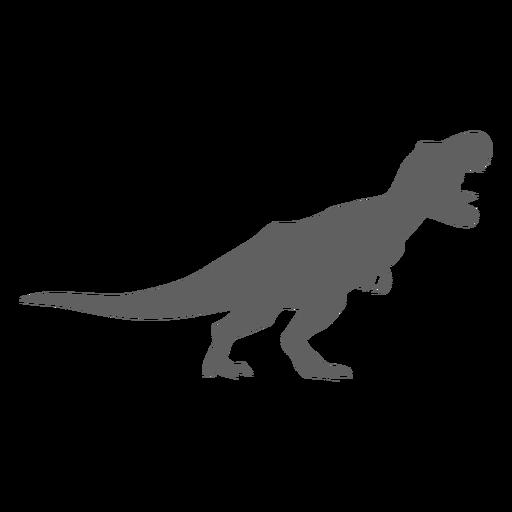 Dinosaur jaws tyrannosaur tail silhouette Transparent PNG