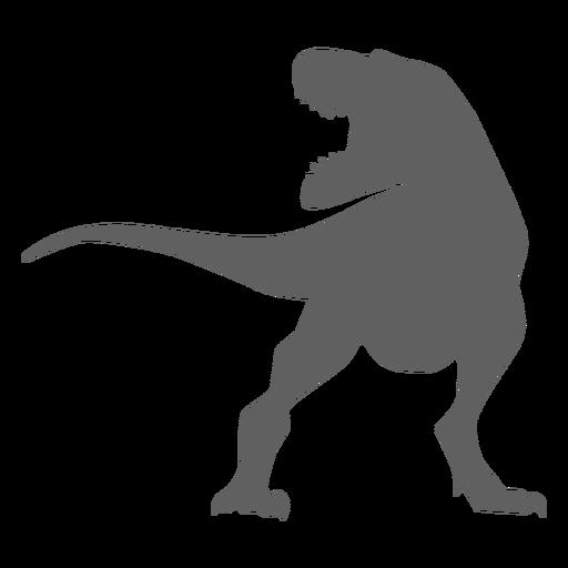 Dinosaur tail tyrannosaur jaws silhouette Transparent PNG
