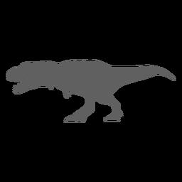 Dinosaurio tiranosaurio mandíbulas cola silueta
