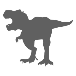Dinosaur tyrannosaur tail jaws silhouette