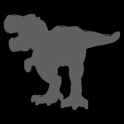 Silueta de mandíbulas de cola de tiranosaurio dinosaurio