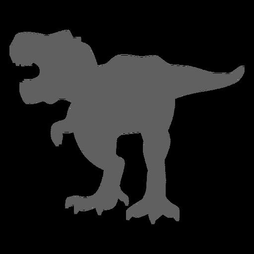 Dinosaur tyrannosaur tail jaws silhouette Transparent PNG