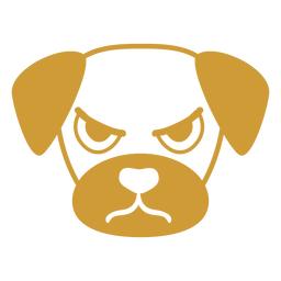 Dog angry head muzzle flat