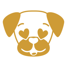 Cão apaixonado cabeça focinho plana