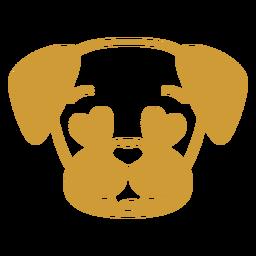 Perro enamorado cabeza hocico plano