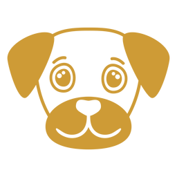 Bozal de cabeza alegre perro plano