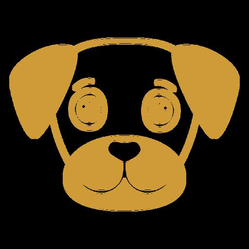 Dog joyful head muzzle flat Transparent PNG