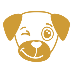 Bozal de cabeza de perro guiño plano