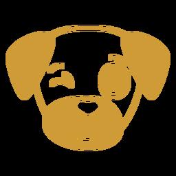 Dog wink head muzzle flat