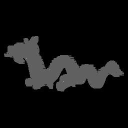 Silueta de escala de cola de mandíbulas de dragón