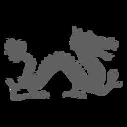 Dragon Scale Backen Schwanz Silhouette