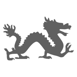 Silueta de cola de mandíbulas de escala de dragón