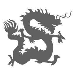 Silhueta de mandíbulas de cauda de escala de dragão