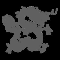 Silueta de mandíbulas de cola de escala de dragón