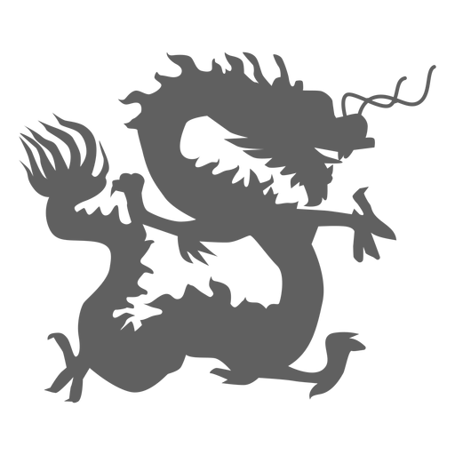 Dragon scale tail jaws silhouette Transparent PNG