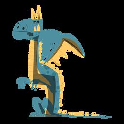 Dibujo de dragón sentado