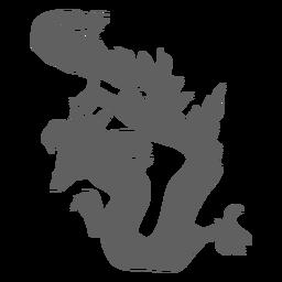 Dragon Tail Scale Backen Silhouette