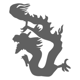 Dragon tail scale jaws silhouette