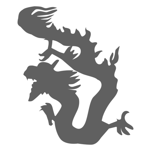 Dragon Tail Scale Backen Silhouette Transparent PNG